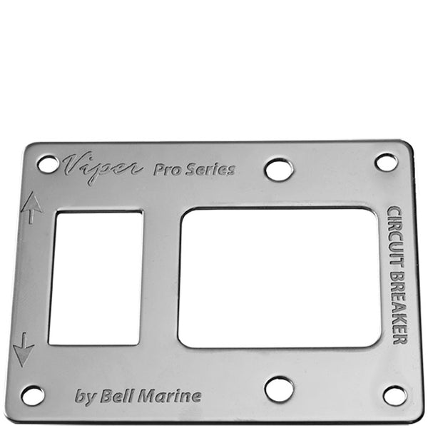 Viper Pro Series Combo S/S Face Plate For Led Switch & Circuit Breaker