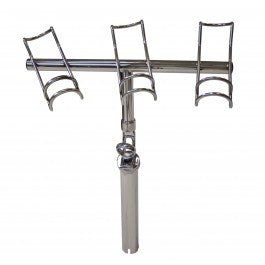 Haines Hunter 130LB Cast Stainless Rod Holder