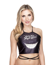 Alice We're All Mad Here Wrap Crop Top