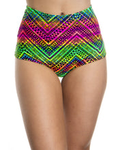 Acid Neon Trippy High Waist Shorts