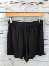 Relaxed Tie Front Short Black