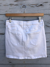 Maddie Denim Mini White