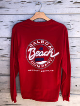 Beach Co. Longsleeve Tee Red