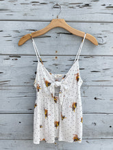Sweet Sparrow Knotted Tank White