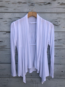 Flowy Asymetrical Cardigan White