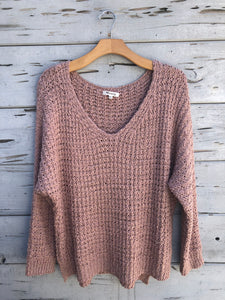 Island Oversized Sweater Blush