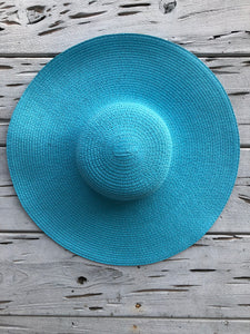 Oversized Palm Beach Hat Turquoise