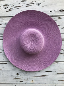 Oversized Palm Beach Hat Lavendar