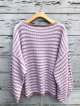 Gigi Oversize Stripe Pullover Sweater Blush