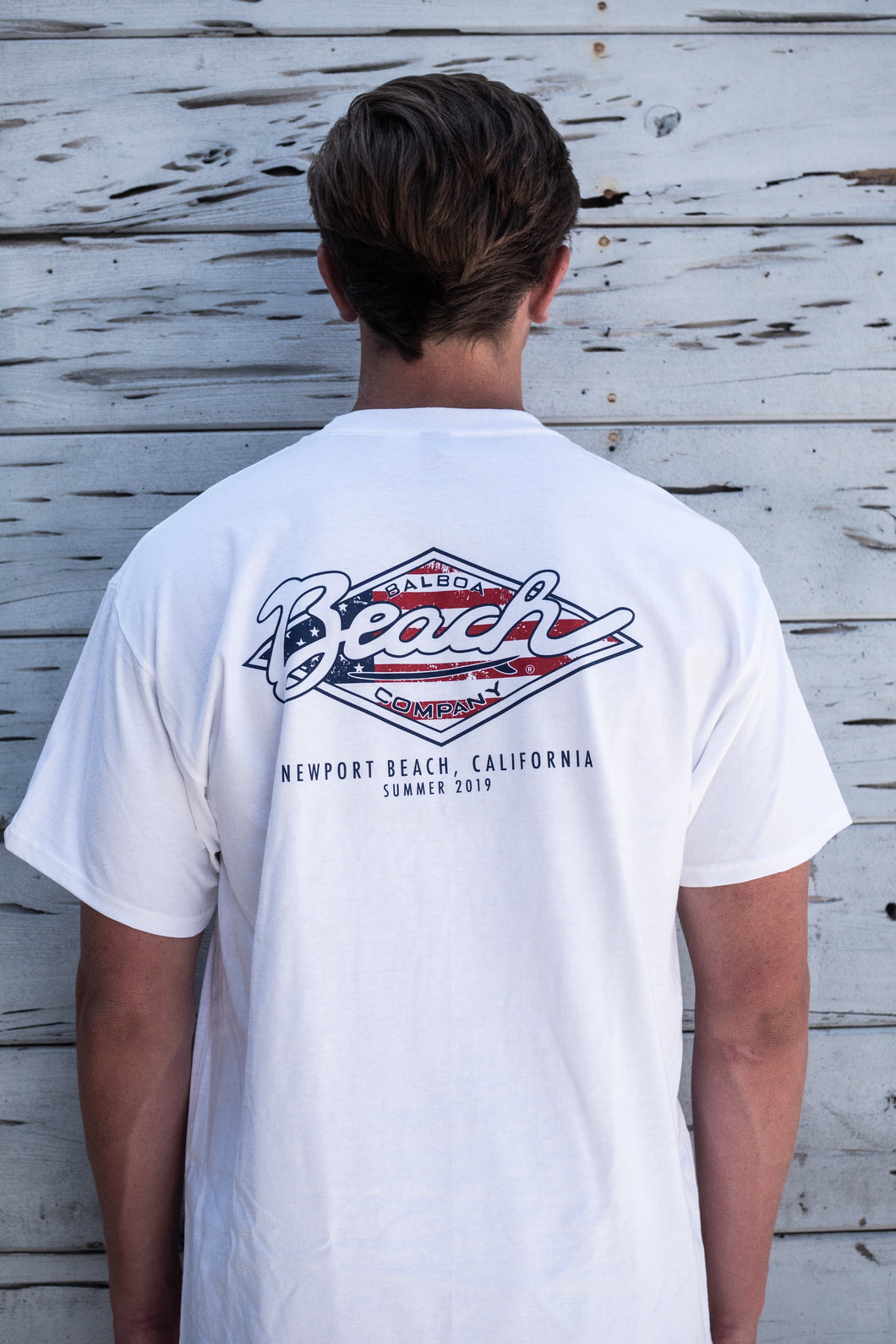 Americana Diamond Logo Tee White