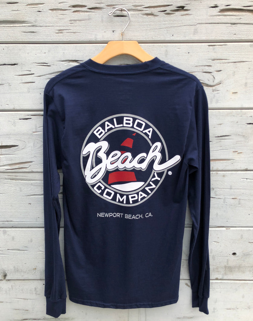 Beach Co. Longsleeve Tee Navy