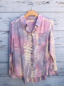 Quarantine Long Sleeve Shirt Lavender Tie-Dye