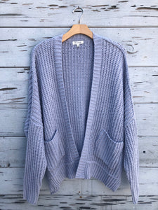 Ultra Soft Chenille Cardigan Blue