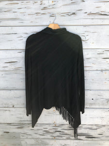 Best Selling Fringe Sweater Black
