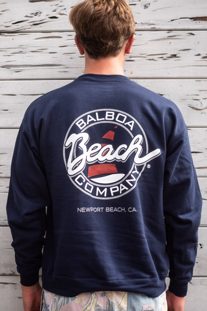 Beach Co. Pullover Sweatshirt Navy