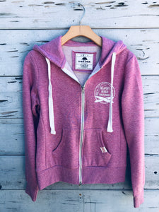 Newport Beach Zip Hoodie Heather Pink