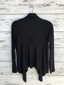 Flowy Asymetrical Cardigan Black