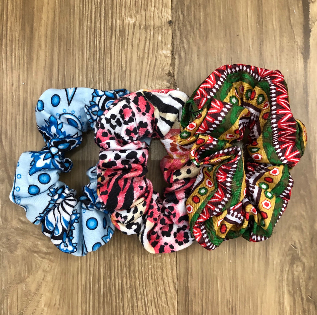 Print Scrunchies 3 for $5