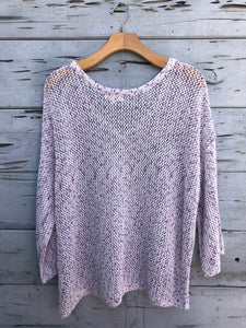 On the Bay Knit Pullover Lavender