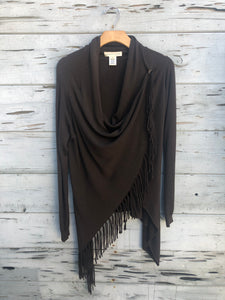 Best Selling Fringe Sweater Chocolate