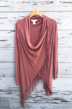 Best Selling Fringe Sweater Rose