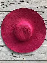 Oversized Palm Beach Hat Pink