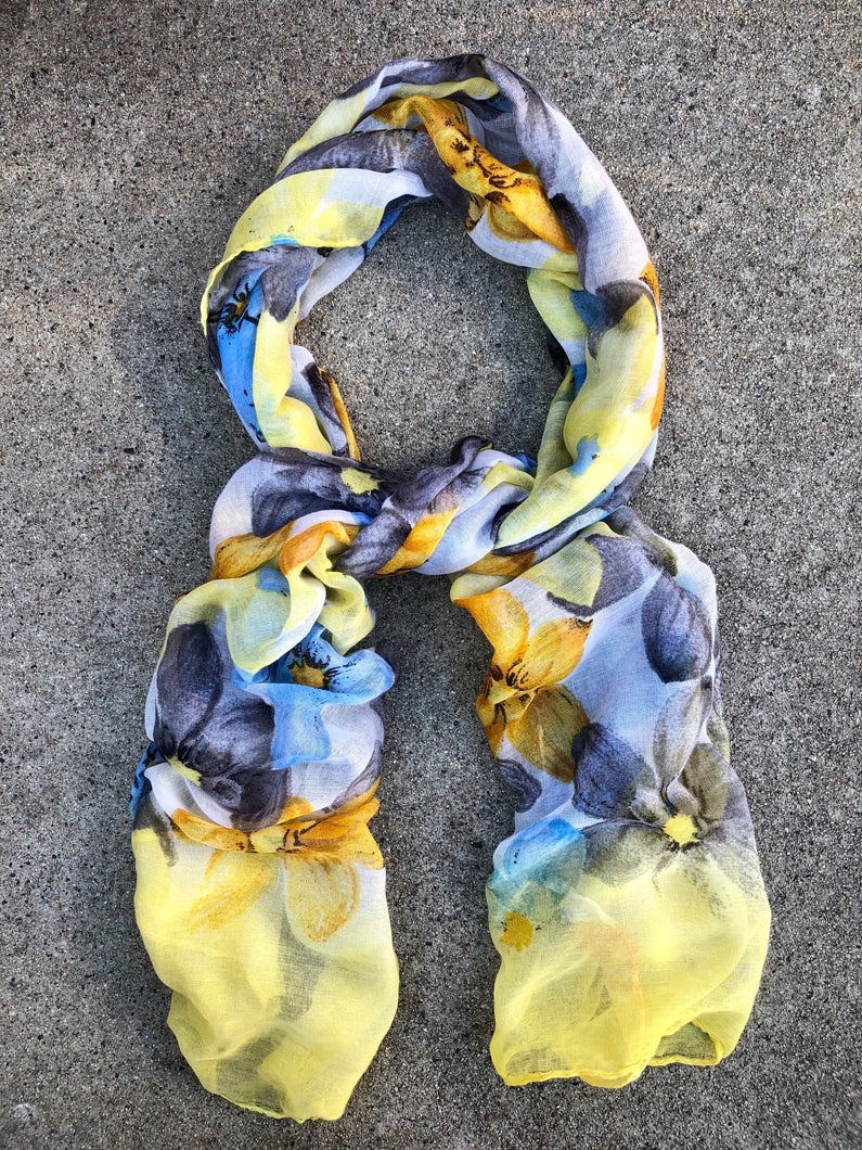 Flower Power Scarf Yellow