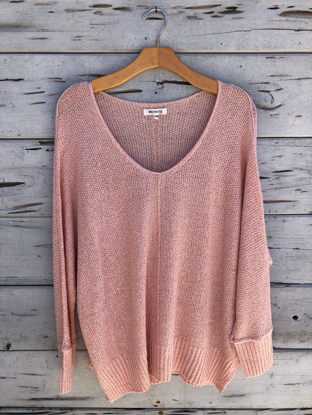 Bayside Knit Pullover Pastel Pink