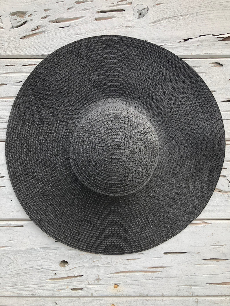 Oversized Palm Beach Hat Black