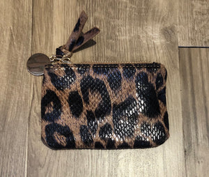 Mini Zip Coin Purse Leopard