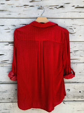 New Haven Dotted Blouse Red