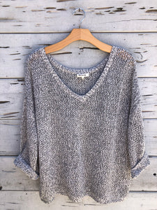On the Bay Knit Pullover Gray