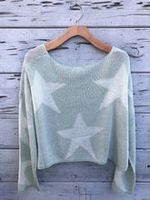 Starry Night Cropped Pullover Mint