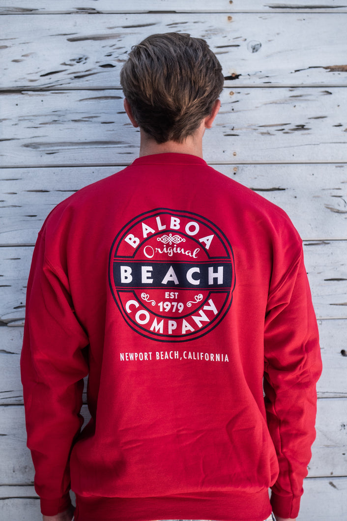 Beach Co. Pullover Sweatshirt Red