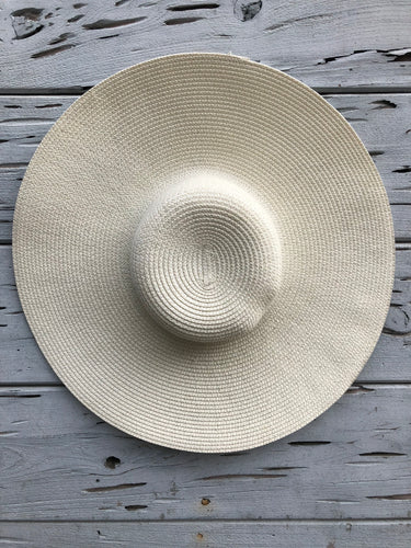 Oversized Palm Beach Hat Ivory