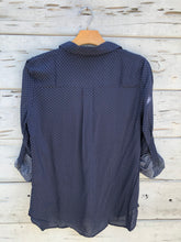 New Haven Dotted Blouse Navy
