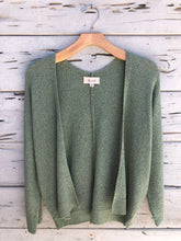 Textured Open Front Summer Cardigan Mint