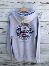 Beach Co. Zip Hoodie Gray