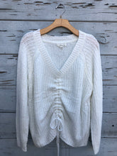 Cinch Front Oversize Sweater Ivory