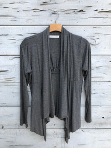Flowy Asymetrical Cardigan Charcoal