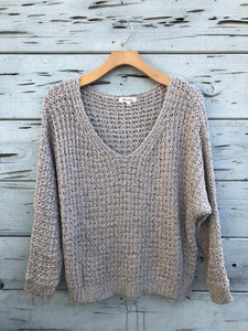 Island Oversized Sweater Flax