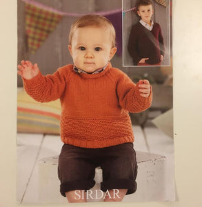Snuggly DK Childs Sweater Pattern 4583