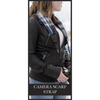 Camera Scarf Strap - Crinkle Stripes