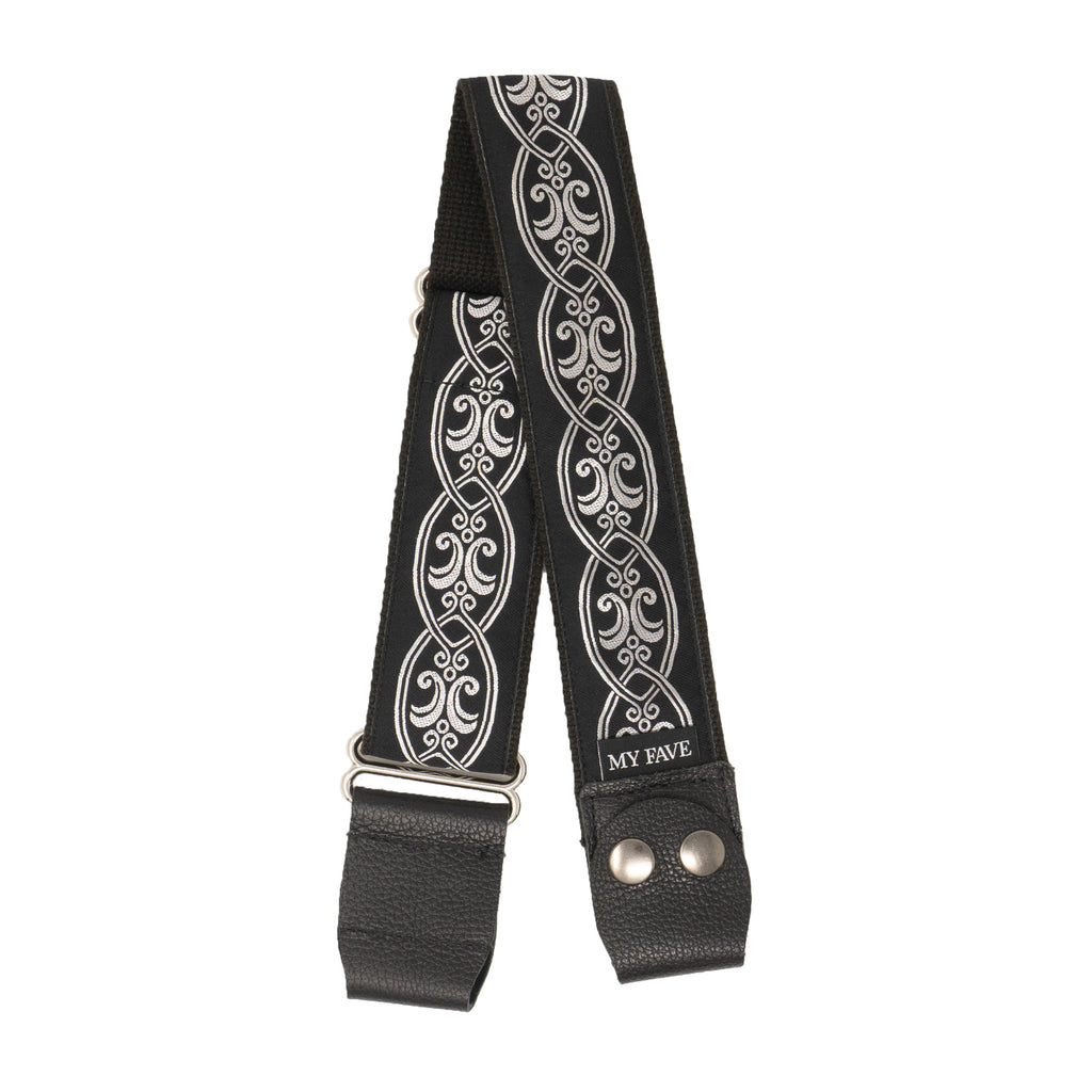 Straps for Sash Bags - Blackened Silver