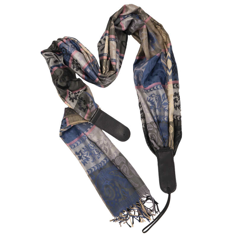 Guitar Scarf Strap - Driftwood Bloom