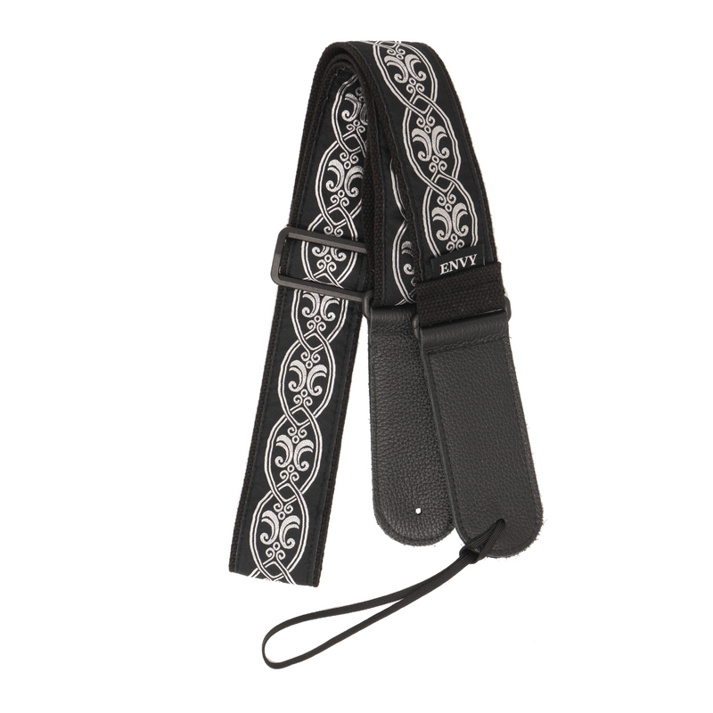 My Fave Guitar Strap in Blackened Silver