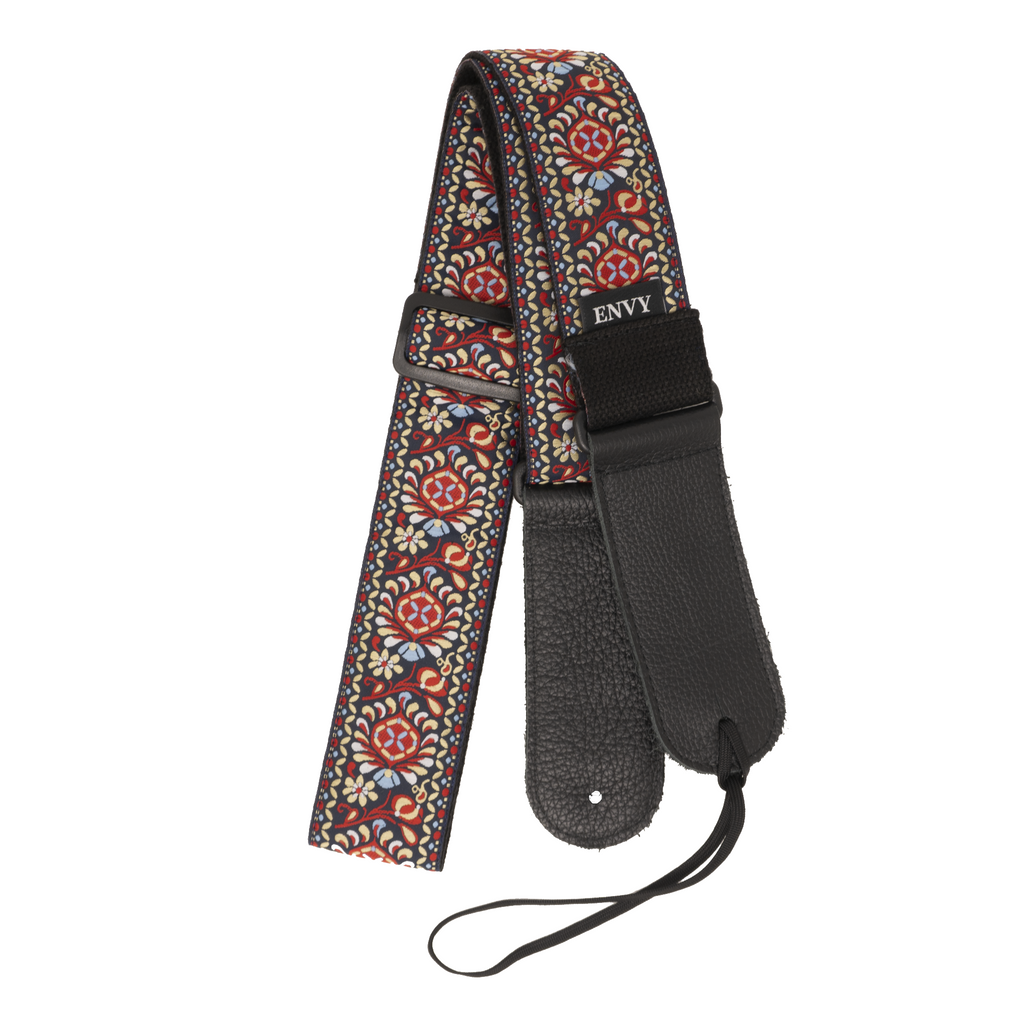 My Fave Guitar Strap in Red Bohemian