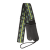 My Fave Guitar Strap in Green Flaming Skulls