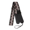 My Fave Guitar Strap in Red Flaming Skulls
