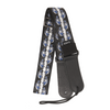 My Fave Guitar Strap in Blue Flaming Skulls